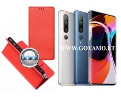 Re-Grid magnetinis dėklas Xiaomi Mi 10, Xiaomi Mi 10 Pro telefonams raudonos spalvos