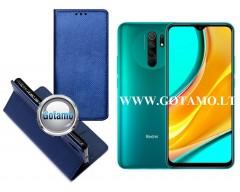 Re-Grid magnetinis dėklas Xiaomi Redmi 9 mobiliesiems telefonams mėlynos spalvos