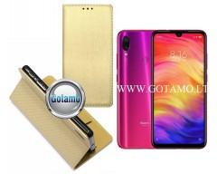 Re-Grid magnetinis dėklas Xiaomi Redmi Note 7, Xiaomi Redmi Note 7 Pro telefonams aukso spalvos