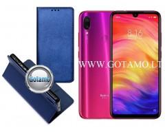 Re-Grid magnetinis dėklas Xiaomi Redmi Note 7, Xiaomi Redmi Note 7 Pro telefonams mėlynos spalvos