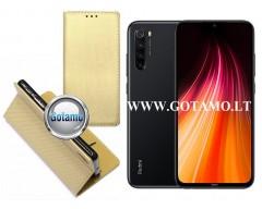 Re-Grid magnetinis dėklas Xiaomi Redmi Note 8T telefonams aukso spalvos