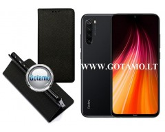 Re-Grid magnetinis dėklas Xiaomi Redmi Note 8T telefonams juodos spalvos