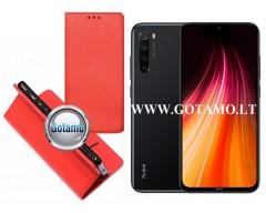 Re-Grid magnetinis dėklas Xiaomi Redmi Note 8T telefonams raudonos spalvos