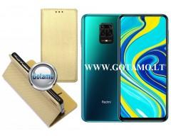 Re-Grid magnetinis dėklas Xiaomi Redmi Note 9 Pro telefonams aukso spalvos