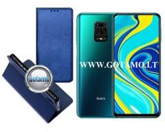 Re-Grid magnetinis dėklas Xiaomi Redmi Note 9 Pro telefonams mėlynos spalvos
