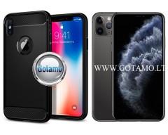 Siege dėklas nugarėlė Apple iPhone 11 Pro Max mobiliesiems telefonams juodos spalvos