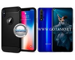 Siege dėklas nugarėlė Huawei Honor 20 Huawei nova 5T mobiliesiems telefonams juodos spalvos