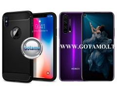 Siege dėklas nugarėlė Huawei Honor 20 Pro mobiliesiems telefonams juodos spalvos