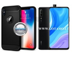 Siege dėklas nugarėlė Huawei P Smart Pro (2019) Huawei Y9 Prime mobiliesiems telefonams juodos spalvos