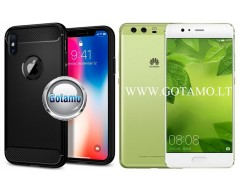 Siege dėklas nugarėlė Huawei P10 Plus mobiliesiems telefonams juodos spalvos
