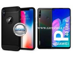 Siege dėklas nugarėlė Huawei P40 Lite E Huawei Y7P mobiliesiems telefonams juodos spalvos