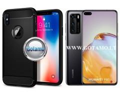 Siege dėklas nugarėlė Huawei P40 mobiliesiems telefonams juodos spalvos