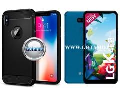 Siege dėklas nugarėlė LG K40S mobiliesiems telefonams juodos spalvos