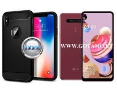 Siege dėklas nugarėlė LG K51S mobiliesiems telefonams juodos spalvos
