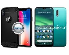 Siege dėklas nugarėlė Nokia 2.3 mobiliesiems telefonams juodos spalvos