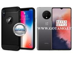 Siege dėklas nugarėlė OnePlus 7T mobiliesiems telefonams juodos spalvos