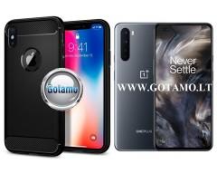 Siege dėklas nugarėlė OnePlus Nord mobiliesiems telefonams juodos spalvos