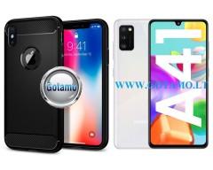 Siege dėklas nugarėlė Samsung Galaxy A41 mobiliesiems telefonams juodos spalvos