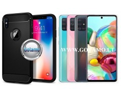 Siege dėklas nugarėlė Samsung Galaxy A71 mobiliesiems telefonams juodos spalvos