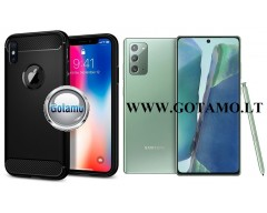 Siege dėklas nugarėlė Samsung Galaxy Note 20 mobiliesiems telefonams juodos spalvos