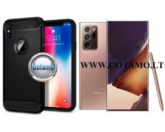Siege dėklas nugarėlė Samsung Galaxy Note 20 Ultra mobiliesiems telefonams juodos spalvos