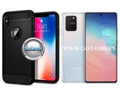 Siege dėklas nugarėlė Samsung Galaxy S10 Lite mobiliesiems telefonams juodos spalvos