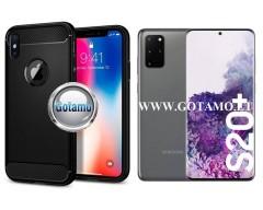 Siege dėklas nugarėlė Samsung Galaxy S20+ mobiliesiems telefonams juodos spalvos