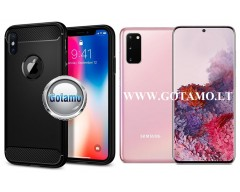 Siege dėklas nugarėlė Samsung Galaxy S20 mobiliesiems telefonams juodos spalvos
