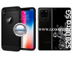 Siege dėklas nugarėlė Samsung Galaxy S20 Ultra mobiliesiems telefonams juodos spalvos