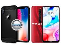 Siege dėklas nugarėlė Xiaomi Redmi 8 8A mobiliesiems telefonams juodos spalvos