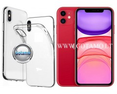 Skin silikoninis dėklas 2MM storio Apple iPhone 11 telefonams
