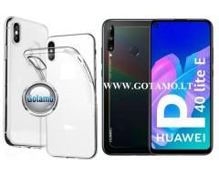Skin silikoninis dėklas 2MM storio Huawei P40 Lite E, Huawei Y7P telefonams