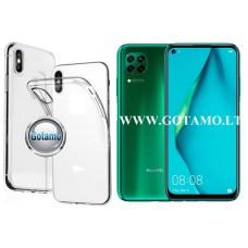 Skin silikoninis dėklas 2MM storio Huawei P40 Lite telefonams