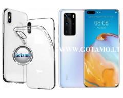 Skin silikoninis dėklas 2MM storio Huawei P40 Pro telefonams