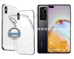 Skin silikoninis dėklas 2MM storio Huawei P40 telefonams