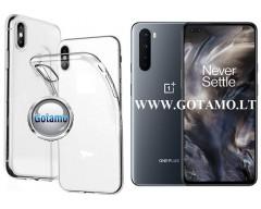 Skin silikoninis dėklas 2MM storio OnePlus Nord telefonams