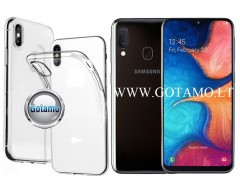 Skin silikoninis dėklas 2MM storio Samsung Galaxy A20e telefonams