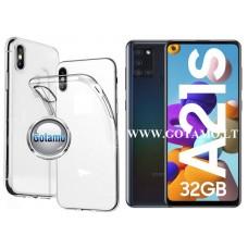 Skin silikoninis dėklas 2MM storio Samsung Galaxy A21s telefonams