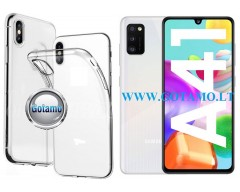 Skin silikoninis dėklas 2MM storio Samsung Galaxy A41 telefonams