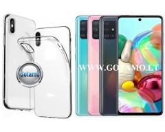 Skin silikoninis dėklas 2MM storio Samsung Galaxy A71 telefonams