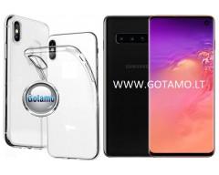 Skin silikoninis dėklas 2MM storio Samsung Galaxy S10 telefonams