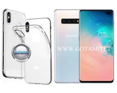 Skin silikoninis dėklas 2MM storio Samsung Galaxy S10+ telefonams