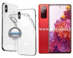 Skin silikoninis dėklas 2MM storio Samsung Galaxy S20 FE telefonams