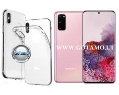 Skin silikoninis dėklas 2MM storio Samsung Galaxy S20 telefonams