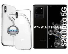 Skin silikoninis dėklas 2MM storio Samsung Galaxy S20 Ultra telefonams