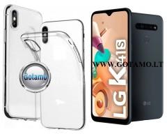 Skin silikoninis dėklas LG K41S telefonams
