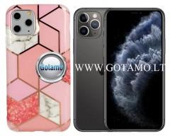 Tiles dėklas nugarėlė Apple iPhone 11 Pro telefonams rožinės spalvos