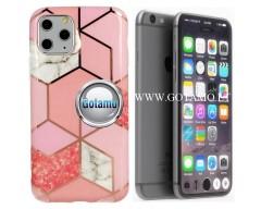 Tiles dėklas nugarėlė Apple iPhone 7 8 SE (2020) telefonams rožinės spalvos
