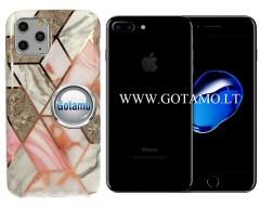 Tiles dėklas nugarėlė Apple iPhone 7 Plus 8 Plus telefonams pilkos spalvos