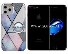 Tiles dėklas nugarėlė Apple iPhone 7 Plus 8 Plus telefonams violetinės spalvos